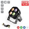 Flash Pro LED PAR 64 4x30W RGBW 4in1 IP65 mk2 ALU HOUSING POWERCON TRUE SOCETS + IR CONTROLLER zewnętrzny wodoodporny reflektor LED